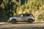 Picture of a 2020 Jeep Compass Limited 4WD in Billet Silver Metallic Clearcoat from a side perspective