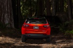 Picture of a 2020 Jeep Compass Trailhawk 4WD in Spitfire Orange Clearcoat from a rear perspective