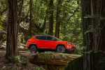 Picture of a 2020 Jeep Compass Trailhawk 4WD in Spitfire Orange Clearcoat from a side perspective