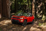 Picture of a 2020 Jeep Compass Trailhawk 4WD in Spitfire Orange Clearcoat from a front left three-quarter perspective