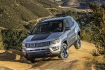 Picture of a 2020 Jeep Compass Trailhawk 4WD in Billet Silver Metallic Clearcoat from a front left perspective