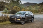 Picture of a 2020 Jeep Compass Latitude 4WD in Granite Crystal Metallic Clearcoat from a front left three-quarter perspective