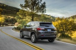 Picture of a 2020 Jeep Compass Latitude 4WD in Granite Crystal Metallic Clearcoat from a rear left perspective