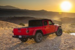 2020 Jeep Gladiator Crew Cab Rubicon 4WD in Firecracker Red Clearcoat - Static Rear Right Three-quarter View