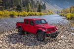 2020 Jeep Gladiator Crew Cab Rubicon 4WD in Firecracker Red Clearcoat - Static Front Right View