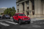 2020 Jeep Gladiator Crew Cab Rubicon 4WD in Firecracker Red Clearcoat - Driving Front Right View