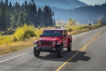 2020 Jeep Gladiator Crew Cab Rubicon 4WD in Firecracker Red Clearcoat - Driving Front Left View
