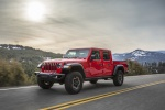 2020 Jeep Gladiator Crew Cab Rubicon 4WD in Firecracker Red Clearcoat - Driving Front Left Three-quarter View