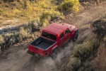 2020 Jeep Gladiator Crew Cab Rubicon 4WD in Firecracker Red Clearcoat - Driving Rear Right Three-quarter View