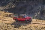 2020 Jeep Gladiator Crew Cab Rubicon 4WD in Firecracker Red Clearcoat - Driving Front Right Three-quarter View