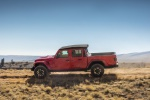 2020 Jeep Gladiator Crew Cab Rubicon 4WD in Firecracker Red Clearcoat - Driving Left Side View
