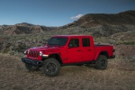 2020 Jeep Gladiator Crew Cab Rubicon 4WD in Firecracker Red Clearcoat - Static Front Left Three-quarter View