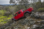 2020 Jeep Gladiator Crew Cab Rubicon 4WD in Firecracker Red Clearcoat - Driving Rear Left Three-quarter View
