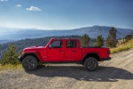 2020 Jeep Gladiator Crew Cab Rubicon 4WD in Firecracker Red Clearcoat - Static Left Side View