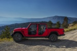 2020 Jeep Gladiator Crew Cab Rubicon 4WD without doors in Firecracker Red Clearcoat - Static Left Side View
