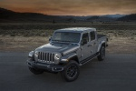 2020 Jeep Gladiator Crew Cab Overland 4WD in Billet Silver Metallic Clearcoat - Static Front Left View