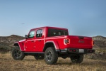 2020 Jeep Gladiator Crew Cab Rubicon 4WD in Firecracker Red Clearcoat - Static Rear Left View
