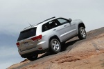 2013 Jeep Grand Cherokee in Bright Silver Metallic Clearcoat - Static Rear Right Three-quarter Top View