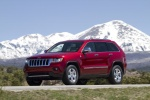2013 Jeep Grand Cherokee Limited 4WD in Deep Cherry Red Crystal Pearlcoat - Driving Front Left Three-quarter View