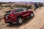 2013 Jeep Grand Cherokee Limited 4WD in Deep Cherry Red Crystal Pearlcoat - Static Rear Right Three-quarter View