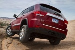 2013 Jeep Grand Cherokee Limited 4WD in Deep Cherry Red Crystal Pearlcoat - Static Rear Left View
