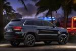 2013 Jeep Grand Cherokee Overland 4WD in Brilliant Black Crystal Pearlcoat - Static Rear Right Three-quarter View