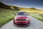 2013 Jeep Grand Cherokee SRT8 4WD in Deep Cherry Red Crystal Pearlcoat - Driving Frontal View