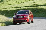 2013 Jeep Grand Cherokee SRT8 4WD in Deep Cherry Red Crystal Pearlcoat - Driving Front Left View