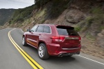 2013 Jeep Grand Cherokee SRT8 4WD in Deep Cherry Red Crystal Pearlcoat - Driving Rear Left Three-quarter View