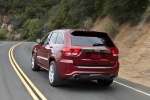 2013 Jeep Grand Cherokee SRT8 4WD in Deep Cherry Red Crystal Pearlcoat - Driving Rear Left View