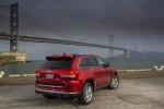 2014 Jeep Grand Cherokee Summit 4WD in Deep Cherry Red Crystal Pearlcoat - Static Rear Right Three-quarter View