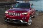 2015 Jeep Grand Cherokee Summit 4WD in Deep Cherry Red Crystal Pearlcoat - Static Front Left View