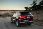2016 Jeep Grand Cherokee Summit 4WD in Deep Cherry Red Crystal Pearlcoat - Driving Rear Left Three-quarter View