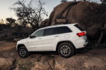 Picture of a 2016 Jeep Grand Cherokee Limited 4WD in Bright White Clearcoat from a rear left three-quarter perspective