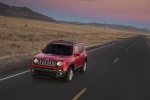 2016 Jeep Renegade Latitude 4WD in Colorado Red - Driving Front Left Three-quarter View