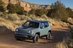 Picture of a 2018 Jeep Renegade Trailhawk 4WD in Glacier Metallic from a front left perspective