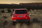 Picture of a 2018 Jeep Renegade Latitude 4WD in Colorado Red from a rear perspective