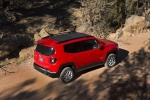 Picture of a 2018 Jeep Renegade Latitude 4WD in Colorado Red from a rear right three-quarter top perspective