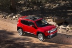Picture of a 2018 Jeep Renegade Latitude 4WD in Colorado Red from a front right three-quarter top perspective