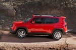Picture of a 2018 Jeep Renegade Latitude 4WD in Colorado Red from a side perspective