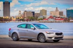 2015 Kia Cadenza in Satin Metal - Static Front Right Three-quarter View