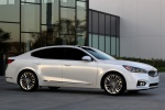 2017 Kia Cadenza in Snow White Pearl - Static Front Right Three-quarter View