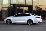 2017 Kia Cadenza in Snow White Pearl - Static Rear Left Three-quarter View