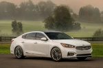 2017 Kia Cadenza Limited in Snow White Pearl - Static Front Right Three-quarter View