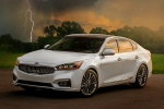 2017 Kia Cadenza Limited in Snow White Pearl - Static Front Left View