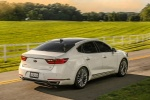 2017 Kia Cadenza Limited in Snow White Pearl - Driving Rear Right Three-quarter View