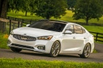 2017 Kia Cadenza Limited in Snow White Pearl - Driving Front Left Three-quarter View