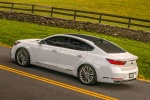 2017 Kia Cadenza Limited in Snow White Pearl - Driving Rear Left Three-quarter View