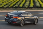 2017 Kia Cadenza in Gravity Blue - Driving Rear Right Three-quarter View