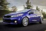 2018 Kia Forte5 Hatchback in Deep Sea Blue - Driving Front Left View